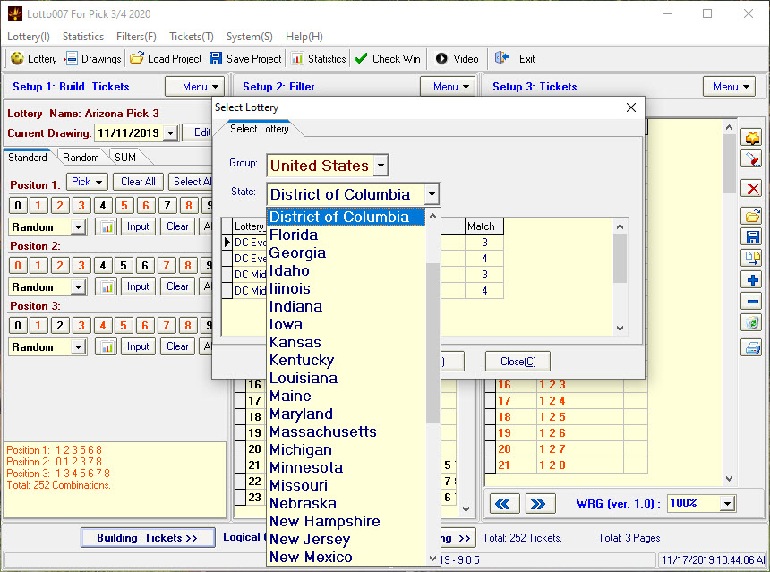 Pick 3 Pick 4 Lottery Software screenshots 1